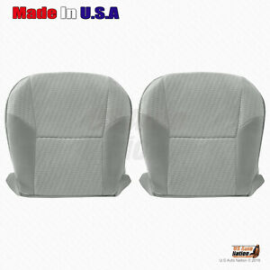 Driver Passenger Bottom Cloth Seat Cover For 2009 2011 Toyota Tacoma Gray