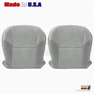 For 2009 2010 2011 Toyota Tacoma Driver Passenger Bottom Cloth Seat Cover Gray