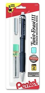 Pentel Twist erase Iii Premium Mechanical Pencil 0 7mm Black Barrel