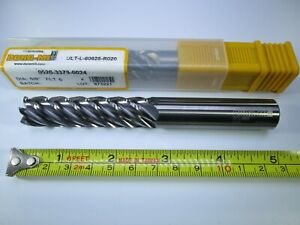 5 8 Carbide Dura mill End Mill 5 Long Reach Length Steel Milling 6 Flute Tool