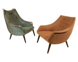 Mid Century His And Her Side Chairs For Craft Associates