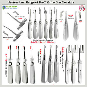 Surgical Tooth Luxating Elevators Root Extraction Forceps Dental Instruments Ce