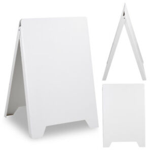 Double Side Sidewalk Pavement A Frame Pvc Sandwich Board Dry Erase Menu Sign