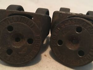 Phoenix Caster Co Cast Iron Double Wheel Swivel Wheels Old Industrial
