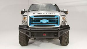 Fab Fours Black Steel Front Bumper No Guard For 99 04 F 250 F 350 Super Duty