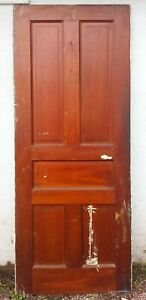2 Avail 30 X79 Antique Vintage Victorian Solid Wood Wooden Interior Door 5 Panel