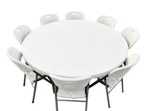 New Commercial Grade Plastic Folding Chairs And Tables pickup Only