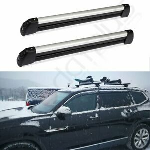 Top Roof Rack Cross Rail Unliversal Car Ski Carriers Mount Snowboard Ski W Key