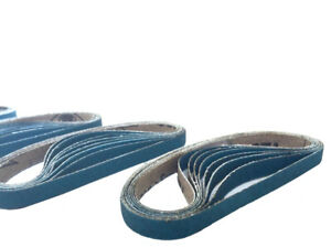 3 8 Inch X 13 Inch Zirconia Cloth Sanding Air File Belts 30 Pack 120 Grit