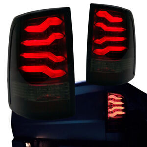 2009 2017 Dodge Ram 1500 2500 3500 Taillights W Smoke Lens Red Led Light Tube