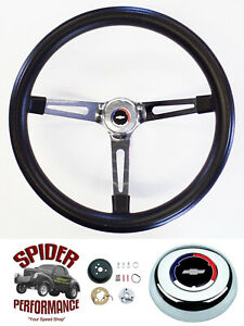 67 68 Chevelle Chevy2 El Camino Steering Wheel Classic Bowtie 15 Muscle Chrome
