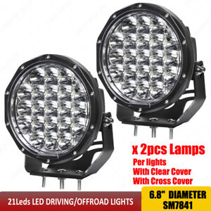 High Power Led Off Road Driving Lights 6 8 Inch Round 84w Led Work Lights X2pcs