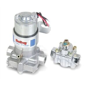 Holley 712 802 1 110 Gph Electric Fuel Pump With Regulator Blue