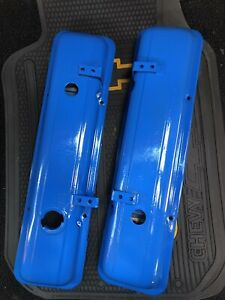 Vintage 1960 S Small Block Chevy Valve Covers Sbc Painted Blue