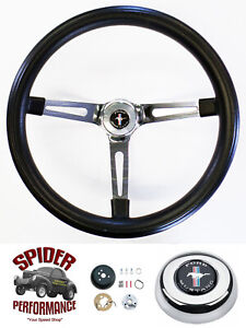 1970 1973 Mustang Steering Wheel Pony 15 Muscle Car Chrome
