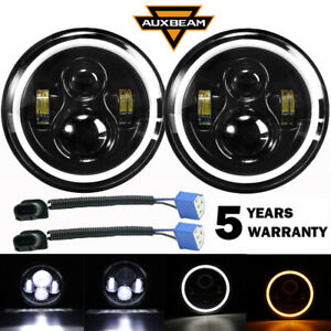 Dot 7 Inch Round Led Headlights Projector Hi lo For Ford Mustang 1965 1978 Jeep