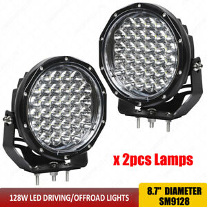For Jeep Wrangler Front Bumper Roof 128w Led Headlights 9 Inch Led Driving Lamp