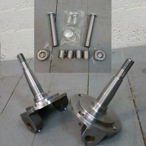1928 1948 Ford Straight Axle Round Spindles King Pin Kit Bushings Installed
