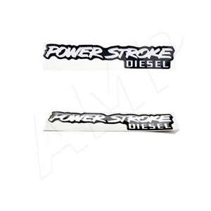 2pc Fits Oem For Ford Powerstroke Diesel Badge Emblem Decal Sticker 6 0 6 4 7 3