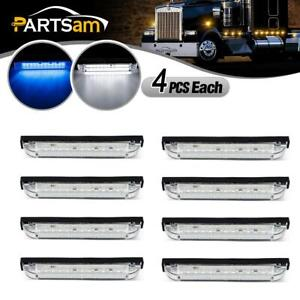 8x 12 Led 6 Utility Strip Bar Rv Boat Lighting Marine Truck Fender Marker Light