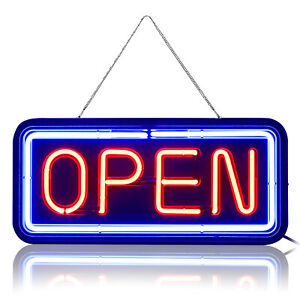 Glass Neon Open Sign Shop Store Bar Beer Business Light Color Signs From Us
