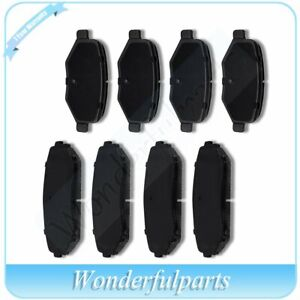 Front Rear Ceramic Brake Pads For 2007 2010 Ford Edge Lincoln Mkx Low Noise