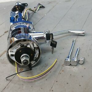 1963 1982 Chevrolet Corvette Chrome Tilt Steering Column Keyed Col Shift Gm