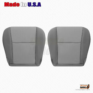 Fits 2012 2015 Toyota Tacoma Driver And Passenger Bottom Cloth Seat Cover Gray