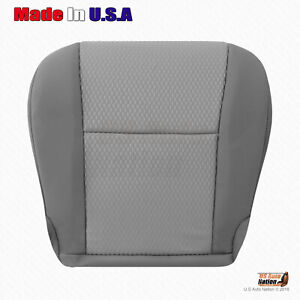 Fits 2013 2014 Toyota Tacoma Driver Bottom Replacement Gray Cloth Seat Cover