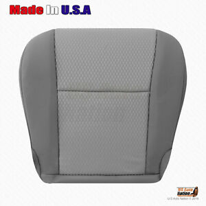 For 2012 2013 2014 2015 Toyota Tacoma Front Driver Bottom Cloth Seat Cover Gray