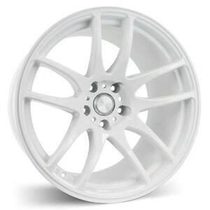 Esr Sr08 18x8 5 30 5x100 Gloss White Concave Set Of 4