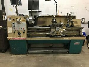 Used Turnmaster 15x50 Gap Bed Manual Engine Lathe Dro Geared Head Tailstock
