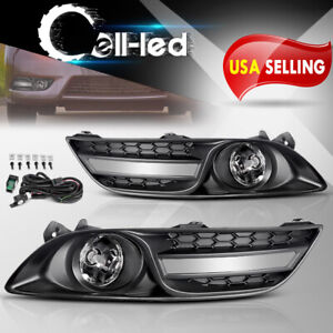 For 2013 2015 Nissan Sentra Clear Bumper Fog Lights Lamps W bulbs switch relay