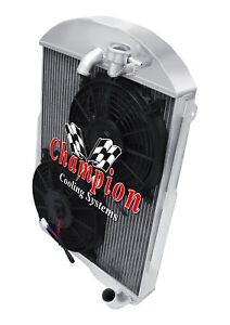 3 Row Bc Radiator W 2 10 Fans For 1939 Chevrolet Ja Master Deluxe L6 Eng