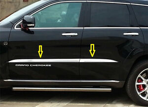 4pcs Chrome Door Body Side Molding Strip Trim For Jeep Grand Cherokee 2014 2019