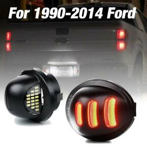 Exclusive 1990 2014 Ford F150 Red Neon Tube Led License Plate Tag Light Pair