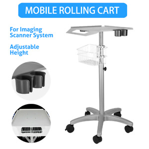 Mobile Rolling Cart For Ultrasound Scanner Machine Lab Basket Trolley Moveable