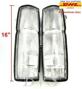 Clear Tail Rear Light Housing Us Model Pair For 86 96 Nissan D21 Frontier Navara