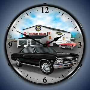 1966 Chevelle Wall Clock Led Lighted