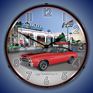 1971 Ss Chevelle Wall Clock Led Lighted
