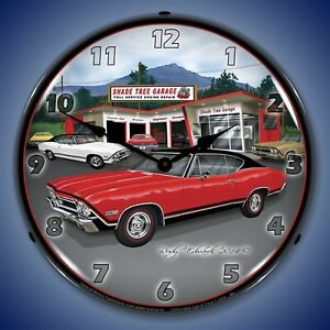 1968 Ss Chevelle Wall Clock Led Lighted