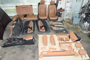 Bmw F33 Convertible Rear Front Sport Heated Seat Chairs Set Brown 30k Oem
