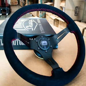Black Suede Steering Wheel For Acura Rsx All Tl 97 Honda Accord Civic Us