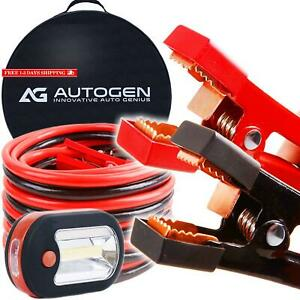 Heavy Duty Jumper Cables 1 Gauge X 25ft 900a Booster Cables Strongest And Longe