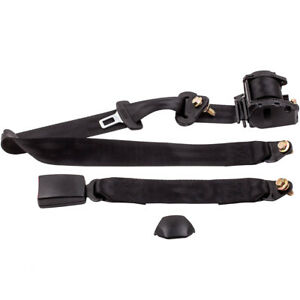 For Car Auto Utv Offroad Adjustable Retractable 3 Point Safety Seat Belt Strap