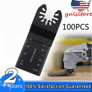 Universal 34mm Oscillating Multi Tool Saw Blades Carbon Steel Cutter 100pcs