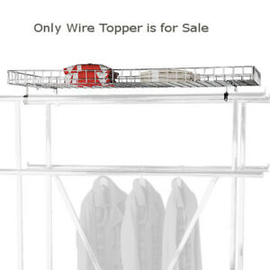 Chrome Plated Steel Wire Topper For Double Rail Apparel Rack