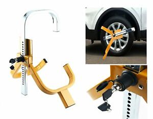 Car Trailer Tire Wheel Lock Clamp Boot Anti Theft Security Towing Adjustable New