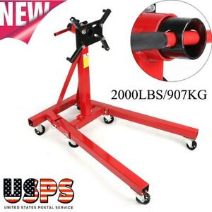 2000lbs 907kg Foldable Engine Overturn Stand Hoist Engine Maintenance Support