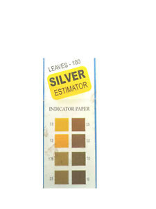 Silver Estimator Indicator Ph Paper 0 5 10 Ph 100 Strips With User Manual
